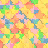 Pattern of colorful puzzle Stock Photography