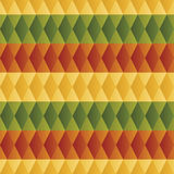 Pattern of colorful rhombus Stock Photos