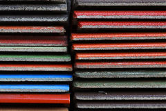 Pattern of colorful roofing and tile Royalty Free Stock Image