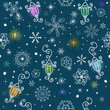 Pattern with colorful small lamps Royalty Free Stock Image