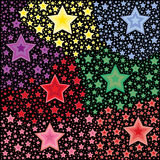 Pattern of colorful stars Stock Images