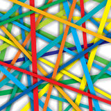 Vector pattern of colorful straight lines Royalty Free Stock Photography