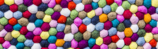 Pattern of colorful wool Stock Image