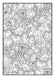 Pattern for coloring book Royalty Free Stock Image