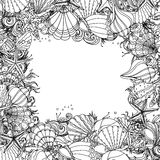 Pattern for coloring book Stock Image