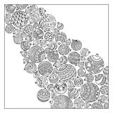 Pattern for coloring book. Christmas hand-drawn decorative eleme Stock Photography