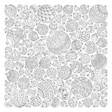 Pattern for coloring book. Christmas hand-drawn decorative eleme Royalty Free Stock Image