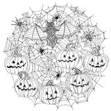 Pattern for coloring book royalty free illustration