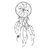 Pattern for coloring book. Dream catcher Stock Image