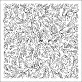 Pattern for coloring book. Ethnic, floral, doodle, vector, desig Stock Images