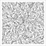 Pattern for coloring book. Ethnic, floral, doodle, vector, desig Royalty Free Stock Photos
