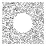 Pattern for coloring book. Ethnic, floral, retro, doodle,  Stock Image
