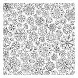 Pattern for coloring book. Ethnic, floral, retro, doodle, vector Royalty Free Stock Photos