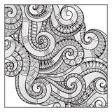 Pattern for coloring book. Ethnic, floral, retro, doodle, vector Stock Photography