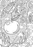 Pattern for coloring book. Ethnic retro design Stock Photo