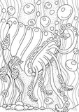 Pattern for coloring book. Ethnic retro design Royalty Free Stock Images