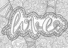 Pattern for coloring book. Ethnic retro design Royalty Free Stock Photos