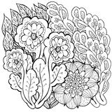 Pattern for coloring book. Ethnic retro design Royalty Free Stock Image