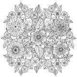 Pattern for coloring book Royalty Free Stock Photo