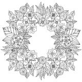 Pattern for coloring book Stock Images