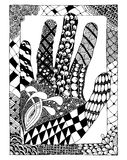 Pattern for coloring book. Hand drawn for anti stress colouring page. Pattern for coloring book. Made by trace from sketch. Illustration in zentangle style Royalty Free Stock Images