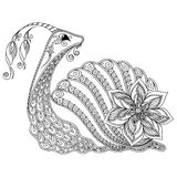 Pattern for coloring book. Illustration of a snail. Stock Images