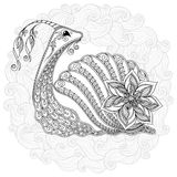Pattern for coloring book. Illustration of a snail. Stock Photography