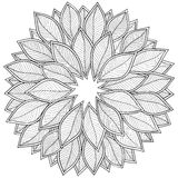 Pattern for coloring book. Leaves. Royalty Free Stock Images