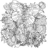 Pattern for coloring book Stock Photo