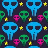 Pattern colors aliens cartoon cute monsters Royalty Free Stock Photo