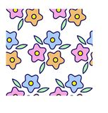 Pattern with colour flowers royalty free illustration