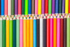 Pattern colour pencils texture and background royalty free stock photography