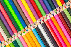 Pattern colour pencils texture and background Royalty Free Stock Images