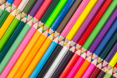 Pattern colour pencils texture and background. Close up pattern colour pencils texture and background royalty free stock image
