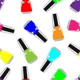Pattern colourful nail polish stock illustration