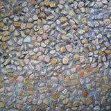Pattern of a colourful small rock. stock photo