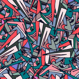 Pattern. The pattern with colourfull triangles Stock Photo