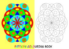 Pattern colouring book - cdr format. Pattern colouring book for children with circles and elipses royalty free illustration