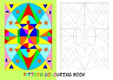 Pattern colouring book - cdr format. Pattern colouring book for children with geometrical shapes royalty free illustration