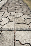 Pattern composed from the pavement Stock Photography