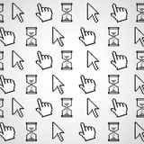 Pattern of computer icons Royalty Free Stock Photo