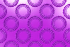 Pattern of concentric shapes made of rings and spirals on violet. Background. Abstract geometric background with grid of concentric elements. 3D rendering royalty free illustration