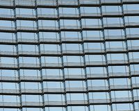 Pattern of condominium windows Stock Images