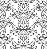 Pattern with cones. Royalty Free Stock Photo