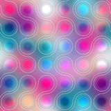 Pattern of connected balls on blurred background Royalty Free Stock Images