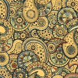 The pattern consisting of colored patterns buta Royalty Free Stock Image