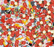 Pattern Consumerism Sale Sticker and Item Royalty Free Stock Photo