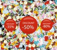 Pattern Consumerism Sale Sticker and Item Stock Image