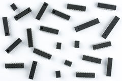 A pattern containing integrated circuits Stock Photos