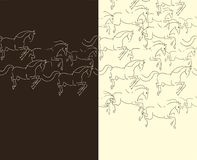 Pattern with horses Royalty Free Stock Image